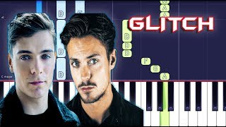 Martin Garrix & Julian Jordan - Glitch Piano Tutorial EASY (Piano Cover)
