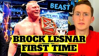MMA FAN REACTS TO BROCK LESNAR WWE FOR THE FIRST TIME (absolute beast...)