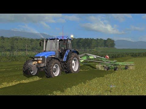 FS17|Raking Grass With New Holland TM150| Gwenddwr