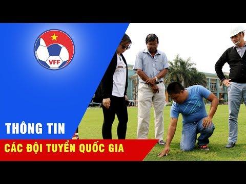 Chuyên gia khảo sát sân cỏ tự nhiên Trung tâm đào tạo bóng đá trẻ Việt Nam