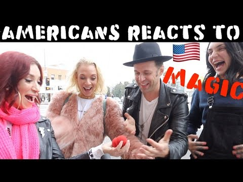 Americans Reacts to  Magic Part 2 l Julien Magic