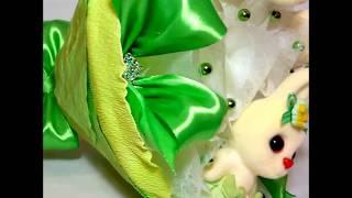 Букет из игрушек Зайчата в зеленом от компании Букеты из Игрушек и Конфет от Okl Оригинальные Подарки - видео