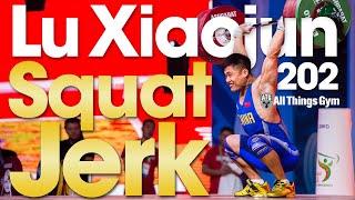 Lu Xiaojun 🇨🇳 202kg / 445lbs Clean & Squat Jerk Slow Motion 2018 World Weightlifting Championships