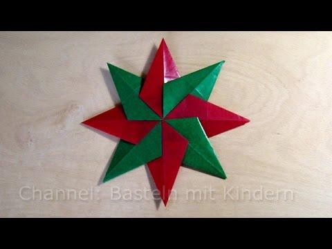 Einfache Bastelideen Für Weihnachten Mit Kindern.Weihnachtssterne Basteln Sterne Falten Basteln Ideen Für