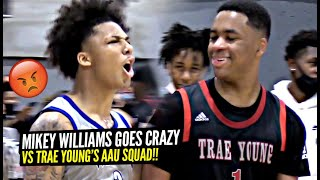 Mikey Williams Gets HEATED vs Trae Young's AAU Squad!! They Wanted SMOKE!!