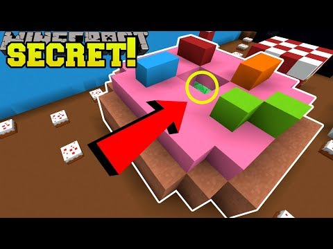 Minecraft: SECRET INSIDE THE DONUT!! - FIND THE BUTTON EMERALD - Custom Map
