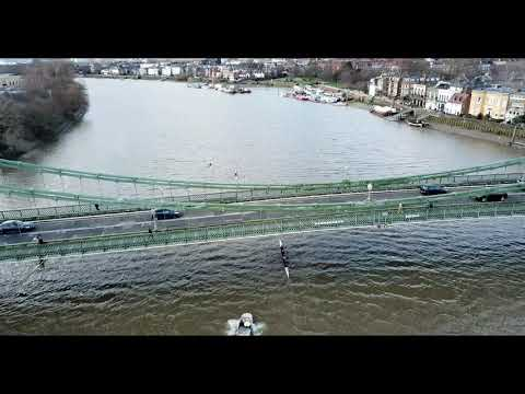 Hammersmith from the Sky | Themes Rowing | London, UK | HD 4K Drone Flight