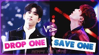 DROP ONE, SAVE ONE | K POP GAME [BTS Vs GOT7]