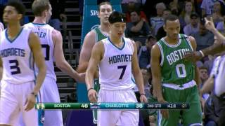 林書豪Jeremy Lin's Offense & Defense Highlights 2015-12-24 Hornets VS Celtics