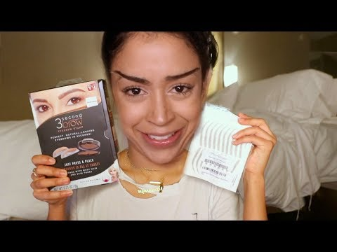 TRYING ON EYEBROWS!! EYEBROW HAUL.