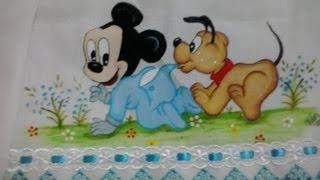 Pintura do Mickey passo a passo