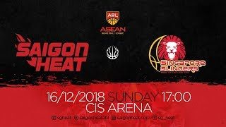 ABL9 || Home - Game 8: Saigon Heat vs Singapore Slingers 16/12 | Full Game Replay
