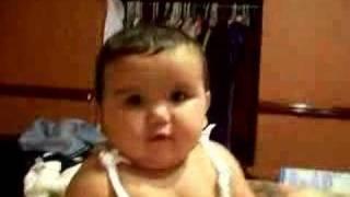 Cute baby blinking