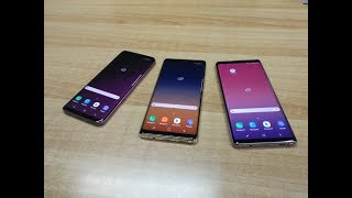 Samsung Galaxy Note 9 vs Galaxy Note 8 vs Galaxy S9+ comparison | Myphone.gr