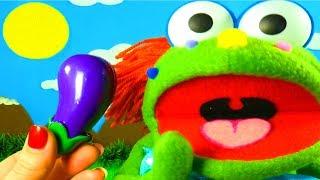 Учим фрукты и Учим овощи с Куклой ДоДо Игрушки на липучках Развивающая Песня про Фрукты и про Овощи