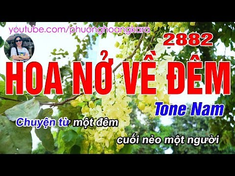 Hoa Nở Về Đêm 2882 (C#m) Tone Nam - Karaoke Bolero - Phượng Hoàng Kara