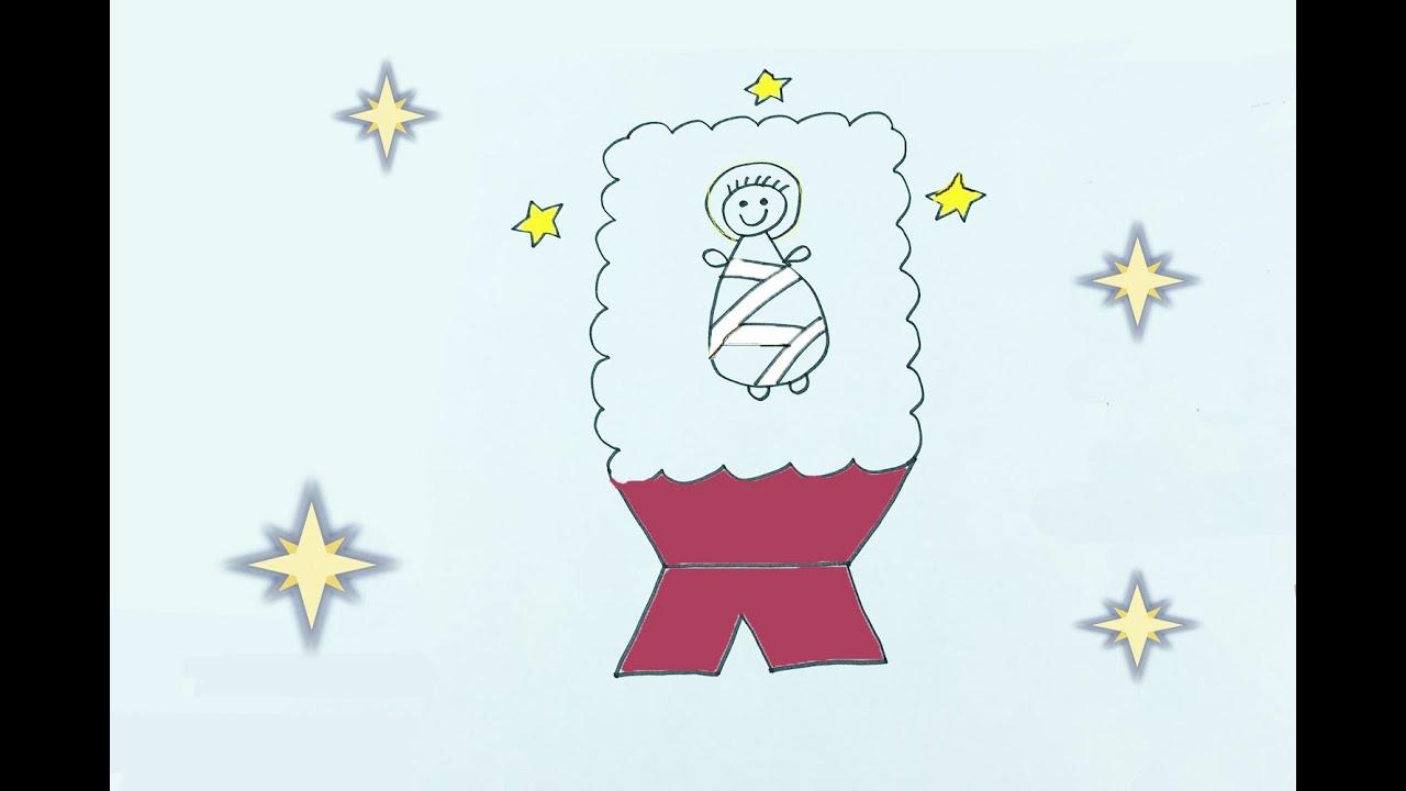 Cómo dibujar al niño Jesús con los niños