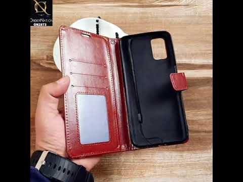 Oppo A52 - Black - Shockproof Leather Magnetic Kickstand Wallet Flipbook With Card Holder Slots Case