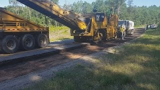Road Milling Machine Removing the old road! Road Construction Vlog 7