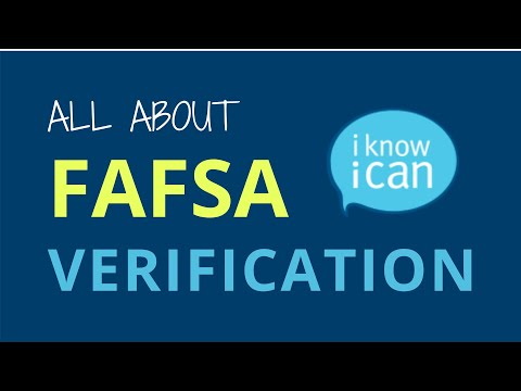 All About FAFSA Verification