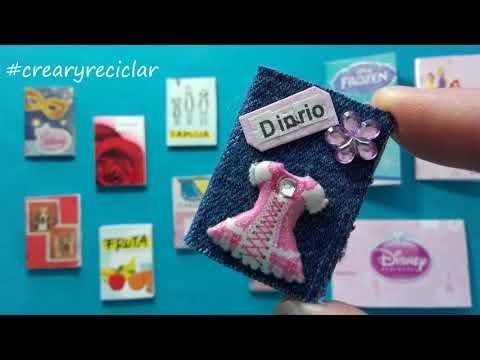 DIY Mini libros, libretas, cuadernos, block de dibujo y un diario para MUÑECAS 💖