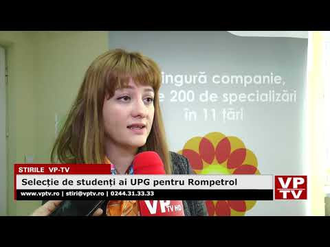 Selecție de studenți ai UPG pentru Rompetrol