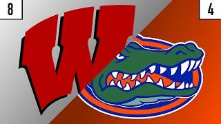 8 Wisconsin vs. 4 Florida Prediction | Who