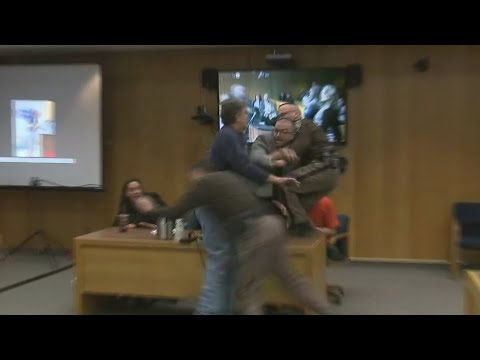 RAW VIDEO: Father lunges at Larry Nassar in court before being restrained