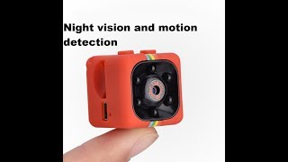 The SQ11 Night Vision Motion Detection HD Mini DV Camera Instructions Setup Review And Unboxing