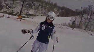 Emi Hasegawa's Free Skiing @Nozawa 2016.4.16