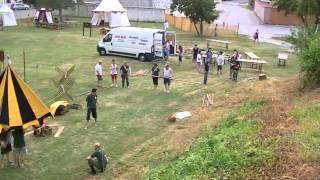 preview picture of video 'Montaggio accampamento storico - Palmanova 6 luglio 2012'