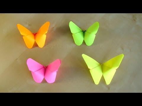 FARFALLINE DI CARTA con la Tecnica Origami ♥ VIDEOTUTORIAL