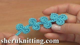 Irish Crochet Leaf Branch Tutorial 37