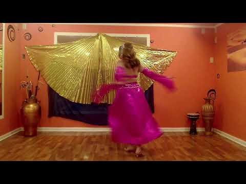 Romantic sensual belly dance