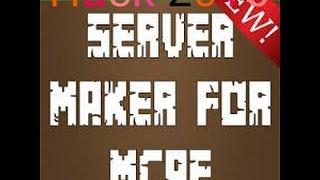 Server Maker For MCPE Real Hack видео Видео - Minecraft pe server selber erstellen