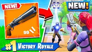*NEW* DOUBLE-BARREL SHOTGUN GAMEPLAY! (Fortnite Battle Royale)