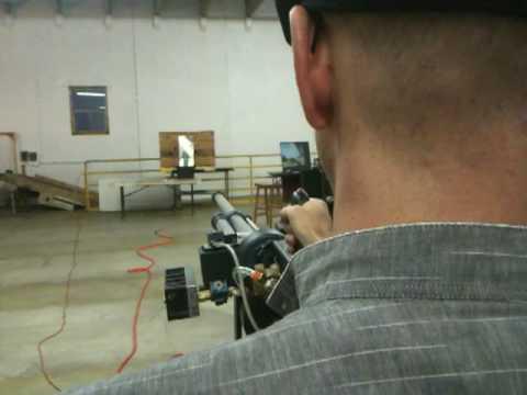 This Pneumatic Gun Can Put A Ping Pong Ball Through Plywood