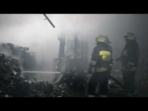 В Днепре произошел масштабный пожар