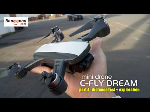 C-FLY DREAM mini drone. Part 4: distance test & exploration