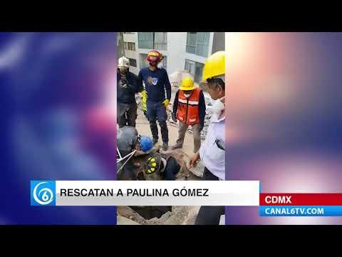 RESCATE DE UNA JOVEN BAJO LOS ESCOMBROS EN LA CDMX
