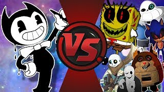 Bendy and The Ink Machine VS CreepyPasta, Undertale, Spongebob, & Memes! Bendy Animation