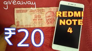 ₹20 only | REDmi NOTE 4 | UNBOXING , FIRST LOOK , PHYSICAL APPEARANCE- & GIVEAWAY(ENDED)