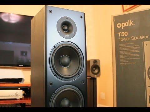 Polk Audio T50 Colonne Tower Speakers Sound Demo (Rock)