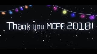 Thank you MCPE 2018!