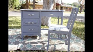 Furniture Makeover: How To Redo A Grey Vanity