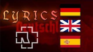 Rammstein   Deutschland (Lyrics) (English, Spanish, German Lyrics)