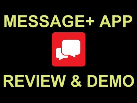 Verizon Messages SMS Text Messaging App with Tablet PC Sync – Review and Demo