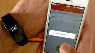 How to connect ID107 with veryfit iOS app - ID107 Smart Bracelet BT4.0 Heart Rate Monitor Smartband