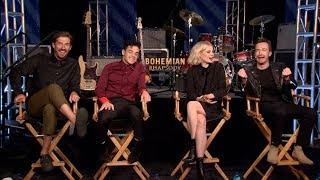 Bohemian Rhapsody interviews - Rami Malek, Lucy Boynton, Mazzello, Lee