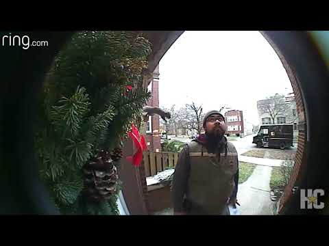 Squirrel Gives Delivery Man Surprise Inspection